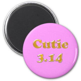 Cutie 3.14 Pi Day Pink Magnet