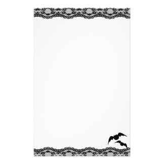 Cutie Bat Stationery with lace