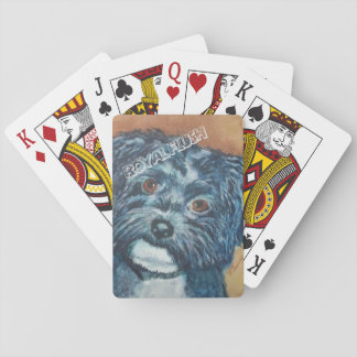 CUTIE BLACK HAVANESE PLAYING CARDS