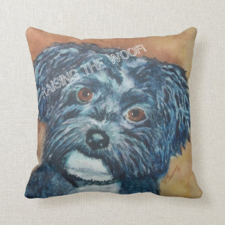 CUTIE BLACK HAVANESE THROW PILLOW