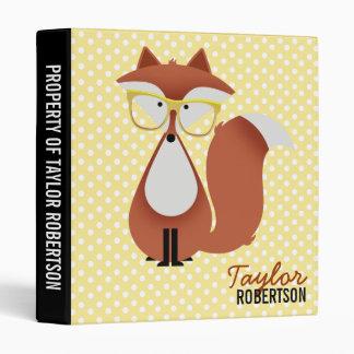 Cutie Cartoon Fox Binder