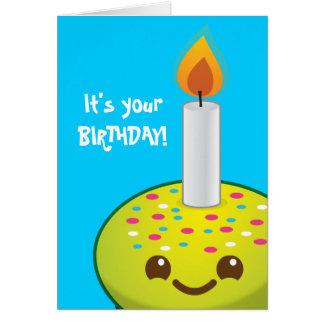 cutie Cupcake Happy Birthday smiles Card