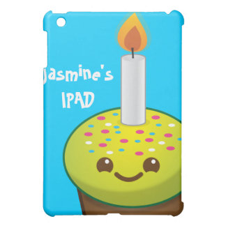 cutie Cupcake Happy Birthday smiles Cover For The iPad Mini