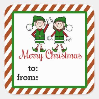 Cutie Elves Gift Tag Sticker
