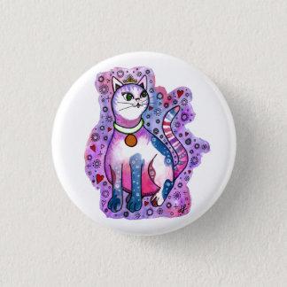 """""""Cutie Kitty"""" 1 Inch Round Button"""