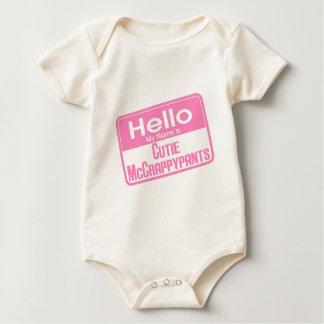 Cutie McCrappypants Baby Bodysuit