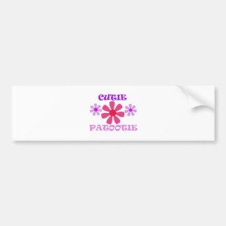 Cutie Patootie with Flowers Bumper Sticker