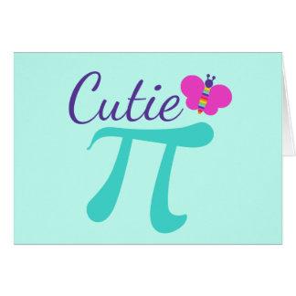 Cutie Pi Symbol Math Pun Card