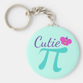 Cutie Pi Symbol Math Pun Keychain