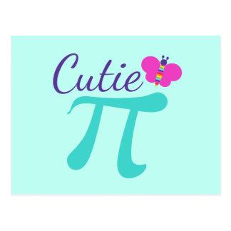 Cutie Pi Symbol Math Pun Postcard