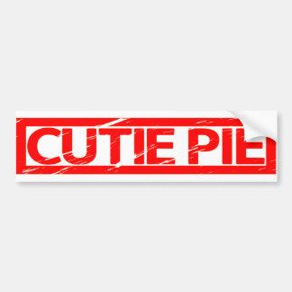 Cutie Pie Stamp Bumper Sticker