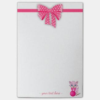Cutie Pink Kitten Cartoon Post-it Notes