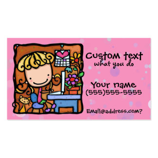 Cutie PNK de comptable d'auteur de concepteur de L Cartes De Visite Personnelles