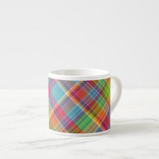 Cutie Rainbow Plaid Espresso Mug