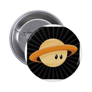 Cutie Saturn 2 Inch Round Button
