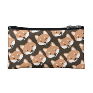 Cutie Shiba Inu Dog Faces Pattern Cosmetic Bag