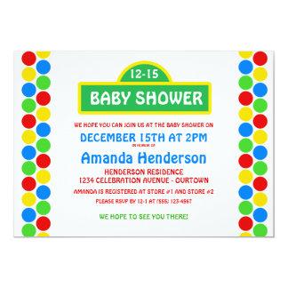 Cutie Street Baby Shower Invitations