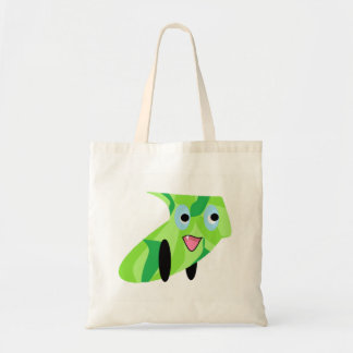 Cutieful Kids Art Design Cute Green Puppy Tote Bag