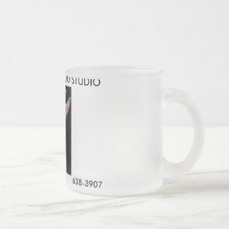 cutieintattoomachine-1, TABOO INK TATTOO STUDIO... 10 Oz Frosted Glass Coffee Mug
