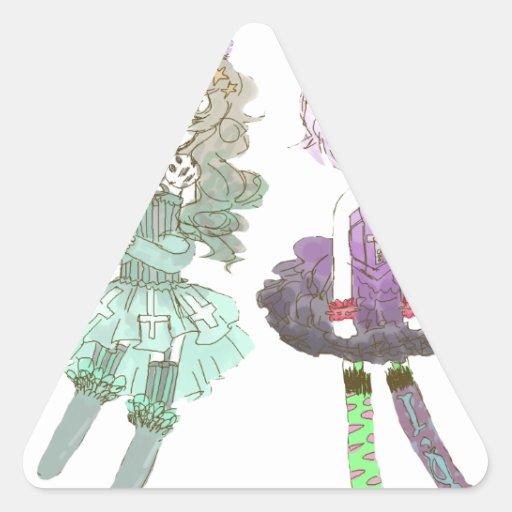 cuties triangle sticker