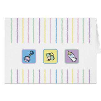 Cutietoots Notecard - Crayon Lines and Baby Stuff