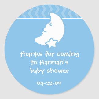 "Cutietoots ""thanks for coming..."" shower favor round sticker"