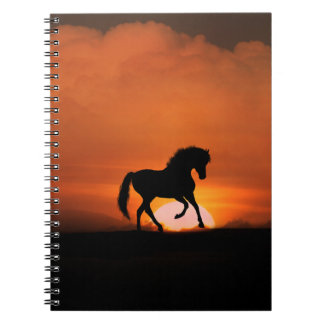 Cutomizable Horse in the Sunset Notebook