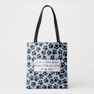 "Cutomizable ""paw prints"" bag"