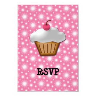 Cutout Cupcake with Pink Cherry on Top Card