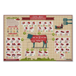 Cuts of beef poster