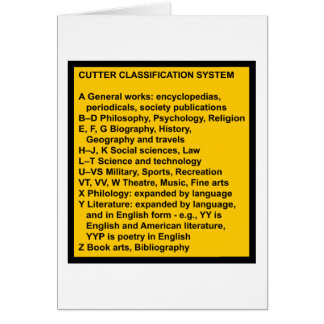 Cutter Expansive Classification Card