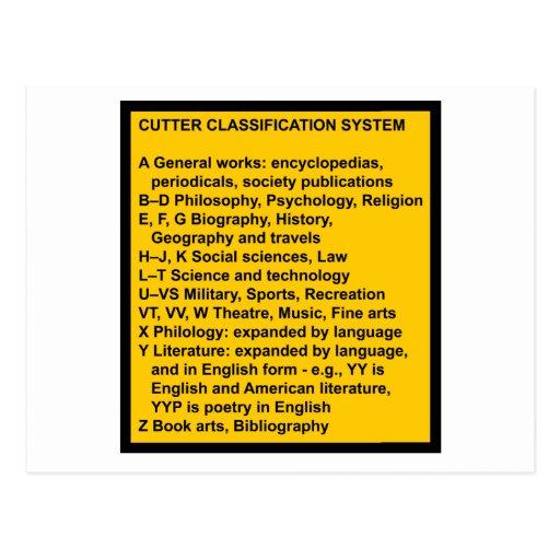 Cutter Expansive Classification Postcard