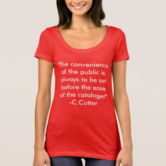 Cutter on Cataloging T-Shirt