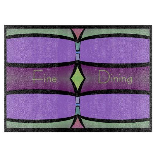 Cutting Board-Fine Dining-Purple,Green,Pink,Black Boards