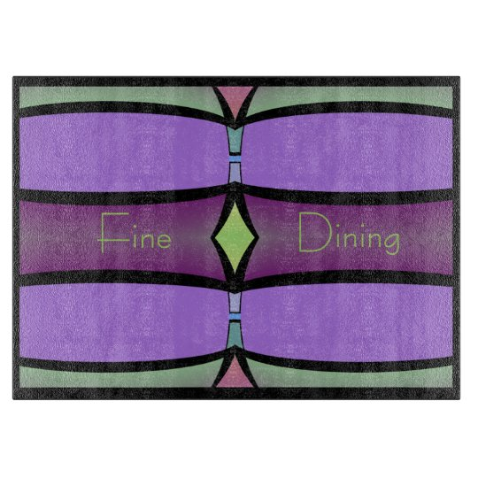Cutting Board-Fine Dining-Purple,Green,Pink,Black Cutting Board