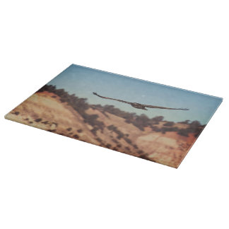 Cutting Board Glass Hawk Wildlife