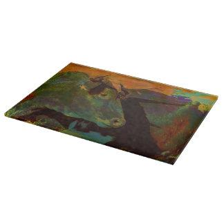 Cutting Board Glass Western Bulls