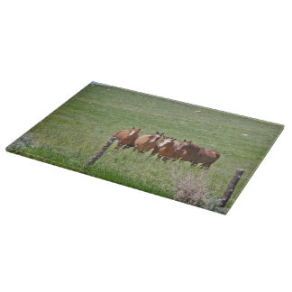 Cutting Board Glass Western Horse