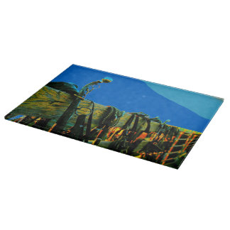 Cutting Board Glass Western Retro Art
