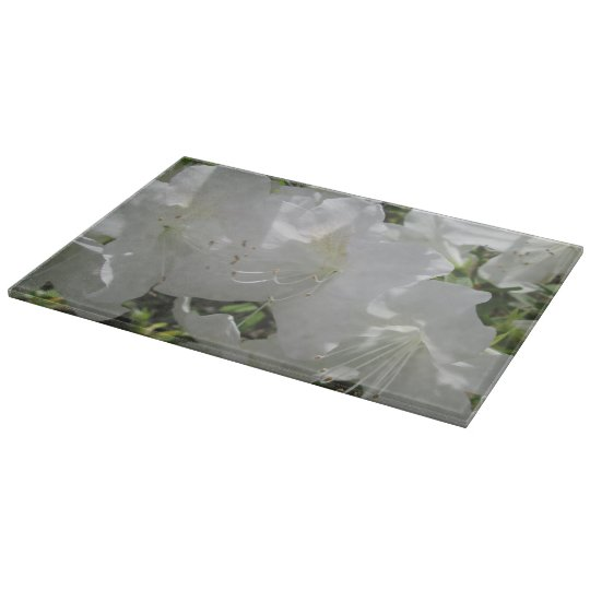 Cutting Board - White Azaleas