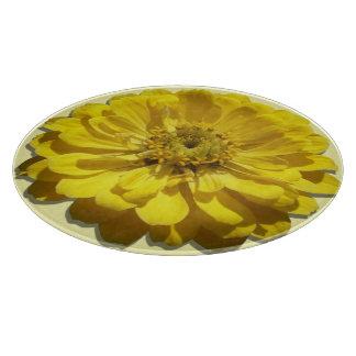 Cutting Board - Yellow Zinnia
