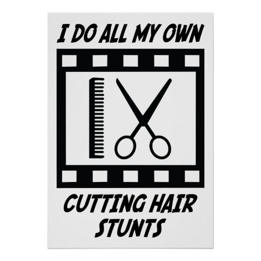 Cutting Hair Stunts Posters
