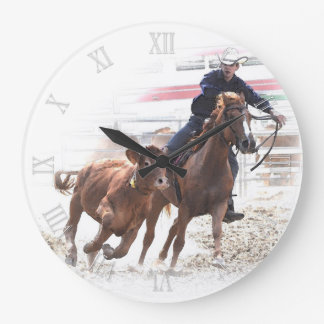 Cutting horse and calf clocks