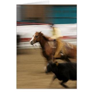Cutting Horse and Cowboy Birthday Card