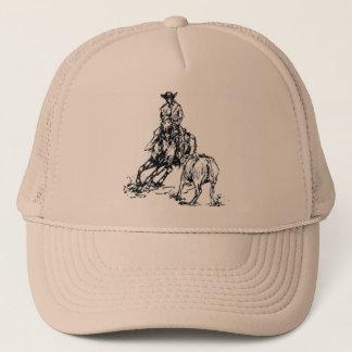 Cutting Horse Western Sketch Design Trucker Hat