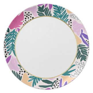 Cutting Shapes Tropical Band Plate