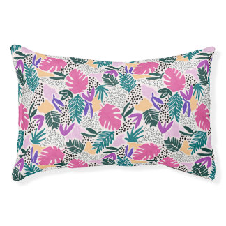 Cutting Shapes Tropical Pattern Pet Bed