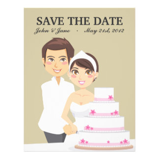 Cutting Wedding Cake Custom Flyer