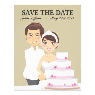 Cutting Wedding Cake Custom Flyer