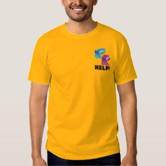 Cuttle Scuttle! Cute Pixel Art Cuttlefish Gold Embroidered T-Shirt